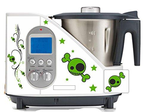 wodtke-werbetechnik keukenmachine sticker doodskop groen geschikt voor SC 100