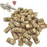 ysister 100 Piezas Tapones de Corcho para Botellas de Vino para Manualidades, decoración y Pasatiempos/Tapones de Botella de Corcho Natural/corchos de Vino/Corcho (21 * 40mm)