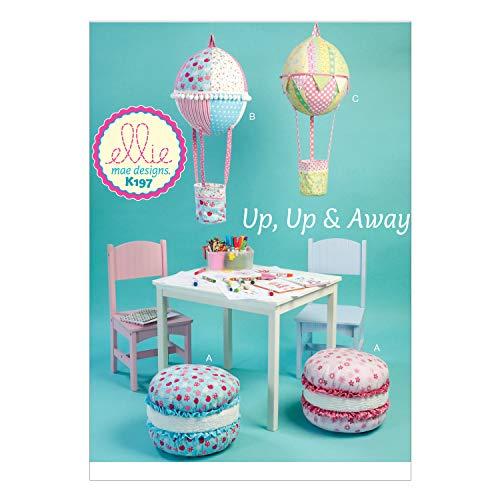 KwikSew Schnittmuster Sitzkissen und Heißluftballons für Kinder Möbel
