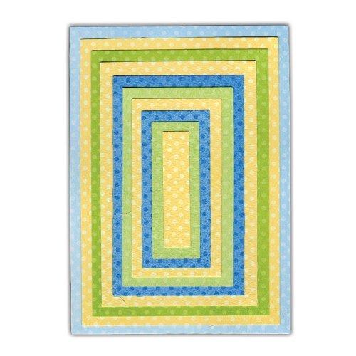 Sizzix Framelits Fustelle Set di 10 Pezzi, Acciaio Inossidabile, Multicolore