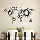 yaofale Mapa del Mundo Pared Vinilo calcomanía Pegatina Arte diseño Mural diseño Interior decoración del hogar