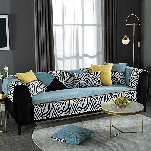 B/H Fundas de sofá de Esquina,Funda de sofá Antideslizante, Funda de sofá de Tela-Blue_110 * 110cm,Asiento Antideslizante sofá Funda Tejido