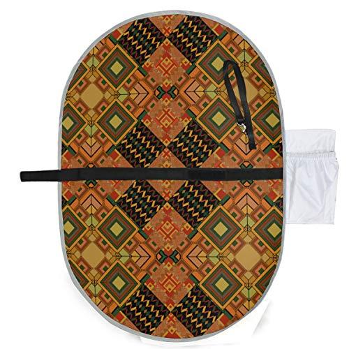 Baby Portable Pad Wasserdichte faltbare Rhombus Fliesen Parkett Textur Windelmatte Reisematte Bequemes Aufhängen