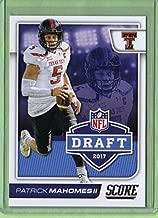 2017 Score NFL Draft #2 Patrick Mahomes II - Rookie Year