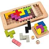Yjdr Holz Tetris Blöcke Puzzle Set Frühpädagogisches Spielzeug Für 2-10 Jahre Dreidimensionales...