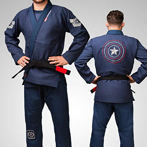 Hayabusa Marvel Hero Elite Adult Jiu Jitsu Gi - Captain America, A4