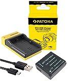 Slim Ladegerät + Akku für die Panasonic Lumix TZ101/TZ202/GX80 - Ersatzakku für Panasonic DMW-BLG10 | einfach mit jedem micro-USB Kabel/Ladegerät (z.B. Smartphone) zu verwenden