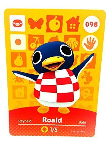 Amiibo Card Animal Crossing Happy Home Design Card Roald 098