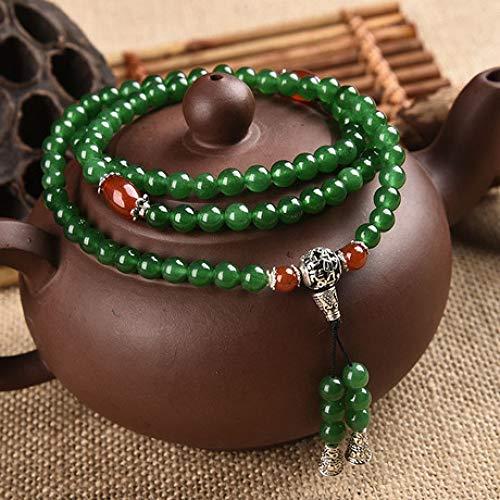 shixiaodan Armreifen,Natürliche Stein Armband farbige Chalcedon Armband Damen Armband Schmuck