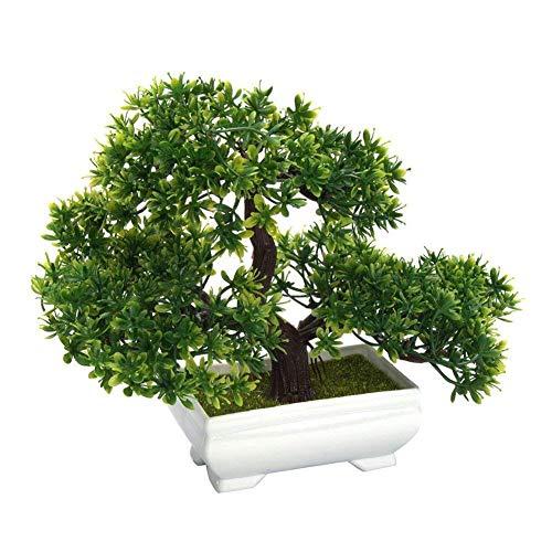 AAGOOD Artificiales Plantas Ornamentales Decoración de árboles Falsos en macetas Las Plantas de Interior para la decoración del jardín