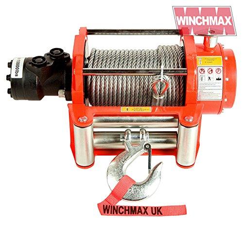 WINCHMAX 4536 kg Original Hydraulische Seilwinde Orange Stahlseil