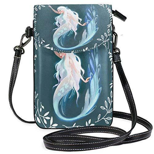 XCNGG Monedero pequeño para teléfono celular Mermaid Cell Phone Purse Wallet for Women Girl Small Crossbody Purse Bags