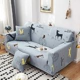 Ajuste elástico con Funda de sofá 2 plazas, Fundas de sofá elásticas Estampadas elásticas para sofá, Funda para sofá seccional de Esquina Funda M