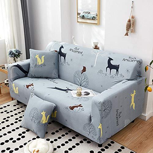 Fsogasilttlv Ustretch Sofabezug 3-Sitzer, Sofabezug Stretch Bedruckte elastische...