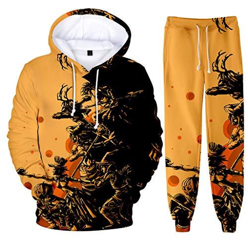 Hoodie +Sweathosen Herren Trainingsanzug Männer Jogginganzug Casual Scary Halloween Liebhaber 3D Print Party Langarm Kostüm Kölner Karneval Sportanzug CICIYONER