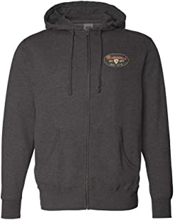 The Stamp Zip-Up Hoodie (Unisex) - Charcoal