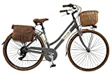 Canellini Dolce Vita by Bicicletta Via Veneto Bici Citybike CTB Donna Vintage Retro Alluminio Donna (46, Grigio)