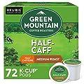 Green Mountain Coffee Roasters Half Caff, Single-Serve Keurig K-Cup Pods, Medium Roast Coffee, 72 Count