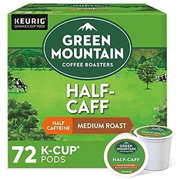 Green Mountain Coffee Roasters Half Caff Single-Serve Keurig K-Cup Pods Medium Roast Coffee 72 Count