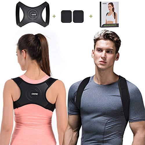 Chefic Haltungskorrektur für Herren Damen mit 2 Achselpolster, Größenverstellbar Geradehalter zur Schultergurt Rückenstütze und Schulter Haltungskorrektur, Schulter Nacken Rückenschmerzen Linderung