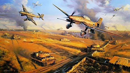 MAIYOUWENG Puzzel Für Erwachsene Klassische Puzzle 1000 Teile Lehrreiches Spielzeug - Flugzeug- Und Panzerschlacht - Als Geburtstag Weihnachten Geschenk