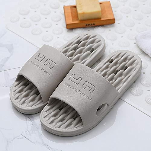 B/H Zapatos de Piscina Zapatos de Agua para baño,Zapatillas Antideslizantes para baño, Zapatillas de Masaje con Fondo Suave-Gris Claro_40-41