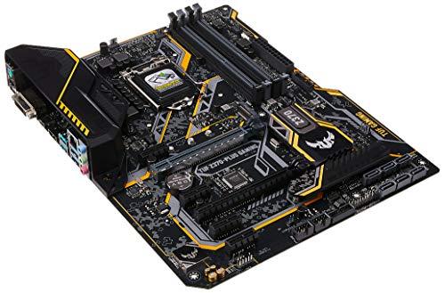 ASUS TUF Z370-PLUS Gaming LGA1151 (Intel 8th Gen) DDR4 HDMI DVI M.2 Z370 ATX Motherboard with Gigabit LAN and USB 3.1