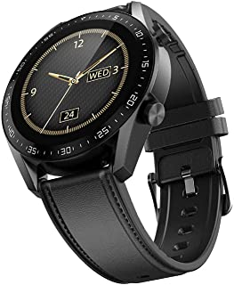 The Mohrim GT1 Smart Watch with Bluetooth Calling, Large Battery (Black)