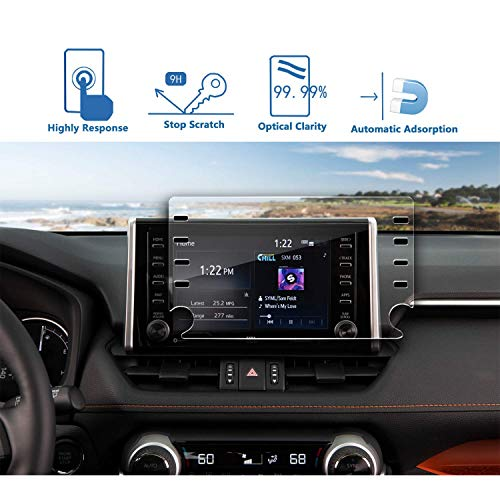 LFOTPP auto 8 inch navigatie glas beschermfolie voor Toyota RAV4 5-9H krasbestendig pantserglas displaybeschermfolie (8 inches)