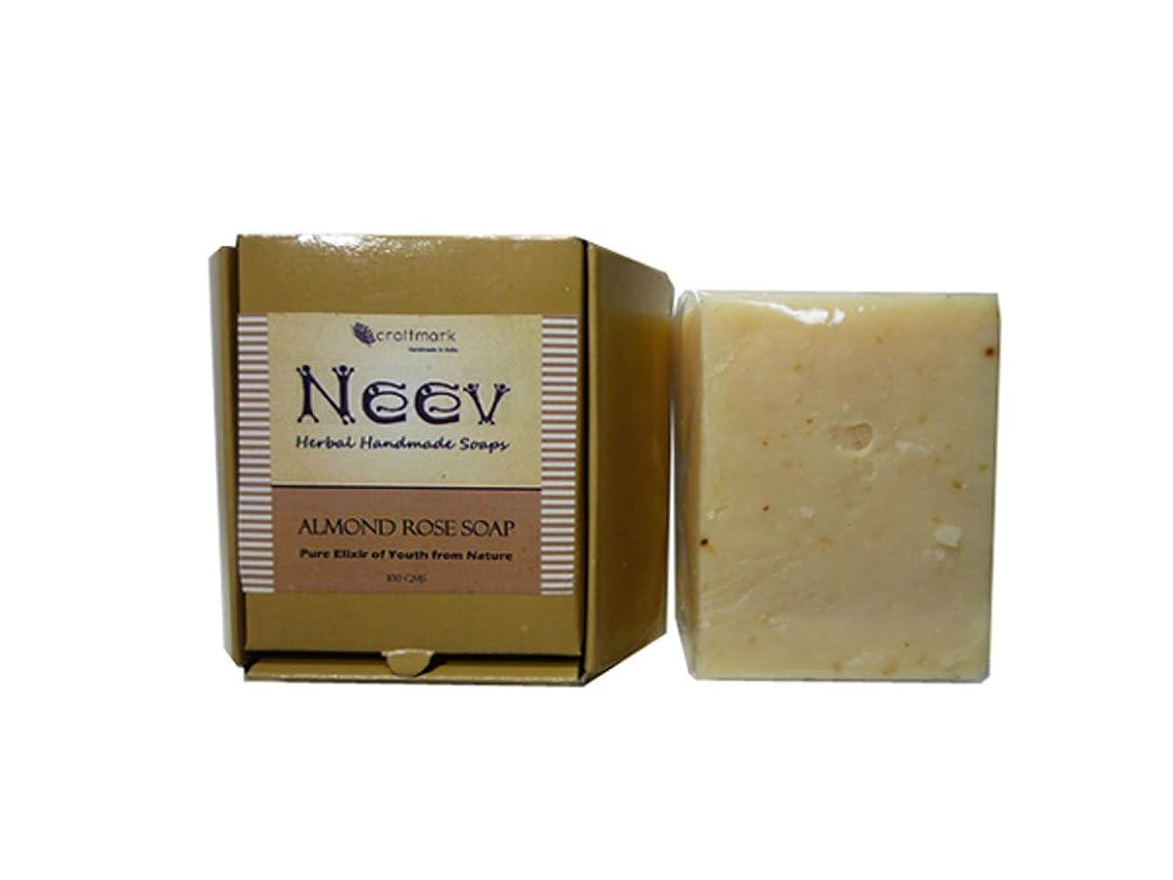 短命戸棚原始的な手作り ニーブ アーモンド ローズ ソープ NEEV Herbal AlmondRose SOAP