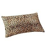 Sencillo Vida Fundas De Cojin Almohada Caso de Lino Color Sólido Estampado Leopardo Pillow Case Sofa Cushion Decoración del Hogar para Salón, Dormitorio, Oficina, Cama o Coche, (30 x 50 cm)