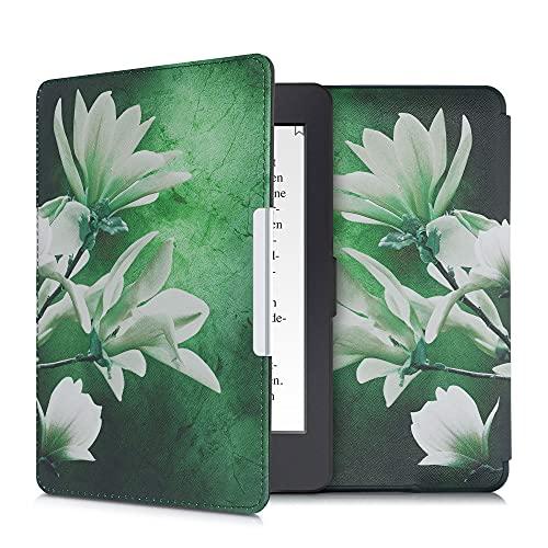 kwmobile hoes compatibel met Amazon Kindle Paperwhite – Case voor e-reader in wit/geel/groen – Magnolia