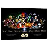 Quadro Star Wars Guerre Stellari Movies Series, Stampa su Tela, Sw055 - Made in Italy - Kuaderstarw, 70x50 cm