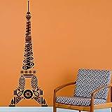 JIAYOUHUO París Medieval patrón Torre Eiffel Viaje Vinilo Pared Arte calcomanía decoración del hogar Sala de Estar Etiqueta de la Pared Interior