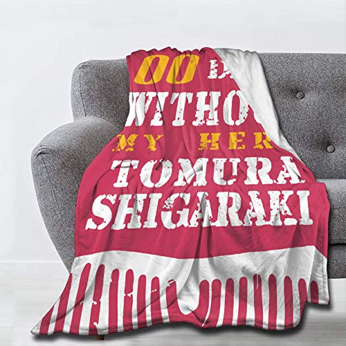 wteqofy 0 Days Without My Hero Tomura Shigaraki Throw Fleece Blanket - Soft Flannel Lightweight Blanket, Home Decor for Bed Sofa | Small (40x50in,100x125cm,Kid)