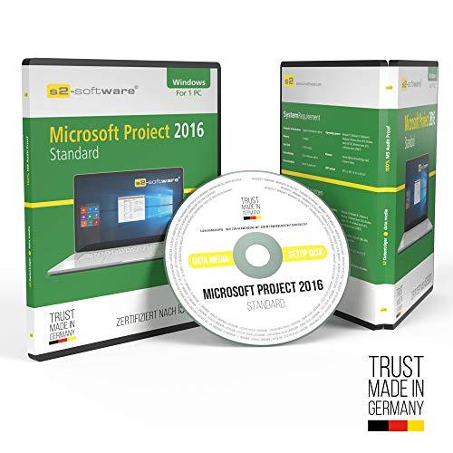 Microsoft® Project 2016 Standard DVD mit original Lizenz. Papiere & Lizenzunterlagen von S2-Software GmbH & Co. KG