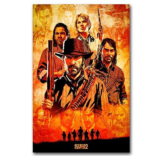 Red Dead Redemption Poster Wall Art Wandbild Malerei Home Decor (Color : 3, Size (Inch) : 30X45cm no frame)