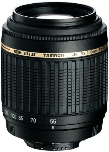 Tamron A15E AF 55-200 mm F/4-5.6 Di II LD Macro - Objetivo con Montura para Canon (Distancia Focal 55-200mm, Apertura f/4-5.6, Macro) - Incluye Parasol