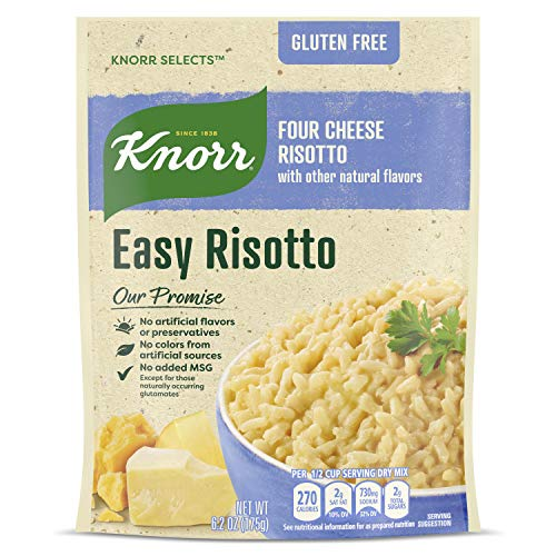 Knorr Selects Rice Side Dish For a Tasty Quick Meal Four Cheese Risotto Gluten Free 6.2 oz, Pack of 8