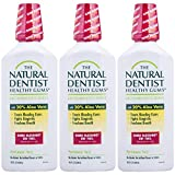 The Natural Dentist Healthy Gums Mouth Wash, Peppermint Twist, 16.9 Ounce Bottle (Pack of 3)