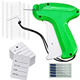 Clothes Tagging Applicator Label Tagging Machine with 500 Clothing Label 5 Steel Needles and 2000 Barbs Fasteners for Fine Tagging Applications (Classic Style with White Barb)