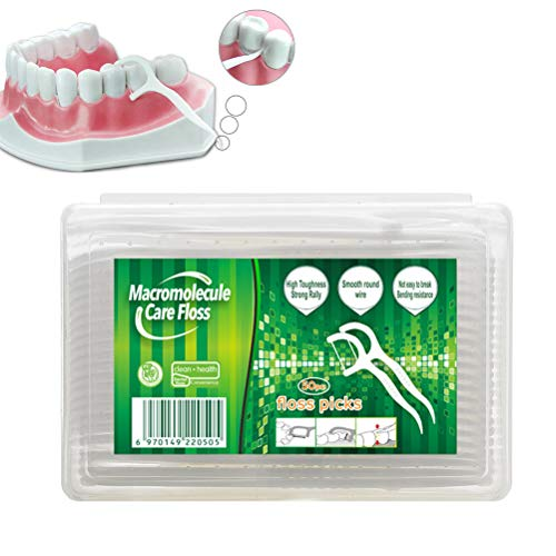 Qiekenao Dental Floss Flosser Picks, Wegwerp Vierkante Doos Floss Stick Tandenstok Reiniging Oraal Care