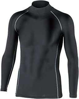 おたふく手袋 ボディータフネス 保温 コンプレッション パワーストレッチ 長袖 ハイネックシャツ JW-170 ブラック M