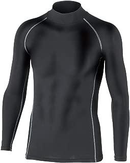 おたふく手袋 ボディータフネス 保温 コンプレッション パワーストレッチ 長袖 ハイネックシャツ JW-170 ブラック L