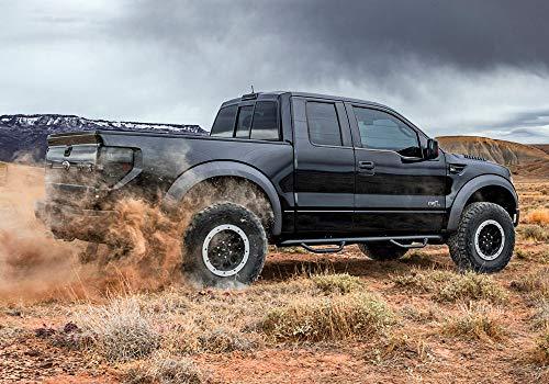 N-FAB F0989CC-TX Textured Black Nerf Step; Cab Length Ford F150 / Raptor / Lobo SuperCrew All Beds 09-14