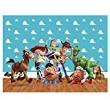 zlhcgd 7x5FT Toy Story 4 Photography Vinyl Photo Background for Kids Birthday Party Backdrops Decoration