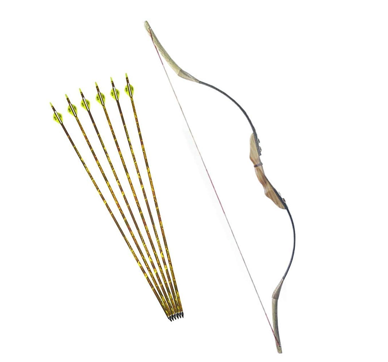 香りマティス低下MILAEM 30~50LBS リカーブボウ 狩猟弓 伝統的な弓 弓道練習専用弓 ロングボウ 右利き 狩猟 練習 ハンティング アーチェリーアクセサリー