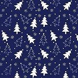 8,98€/m Weihnachten 100% Baumwolle 50x160cm Baumwollstoff