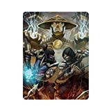 Cartel retro de metal con texto 'Fighting Game Mortal Kombat-11-2019', diseño retro de arte elegante, pintura de hierro, bar, cueva, café, familia, garaje, decoración de pared, 40 x 30 cm