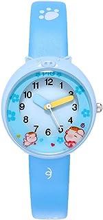 Hemobllo Kids Quartz Watch Waterproof Cartoon Watch Wrist Watch for Unisex Boys Girl Kids Child Blue